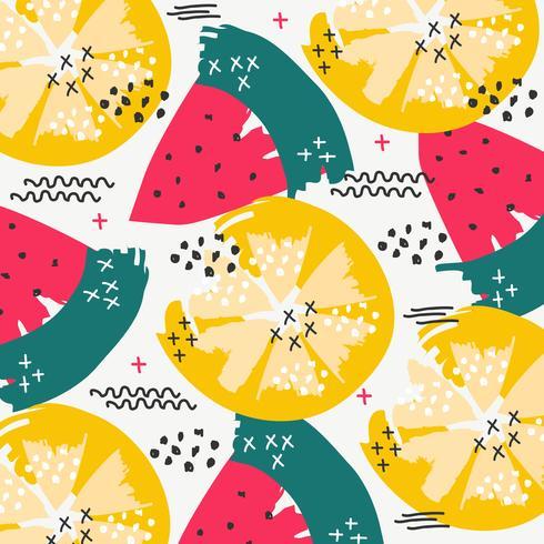 Patrón de vector de verano de fruta