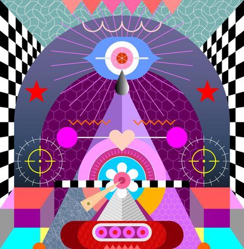 Ilustración de vector de diseño de arte abstracto