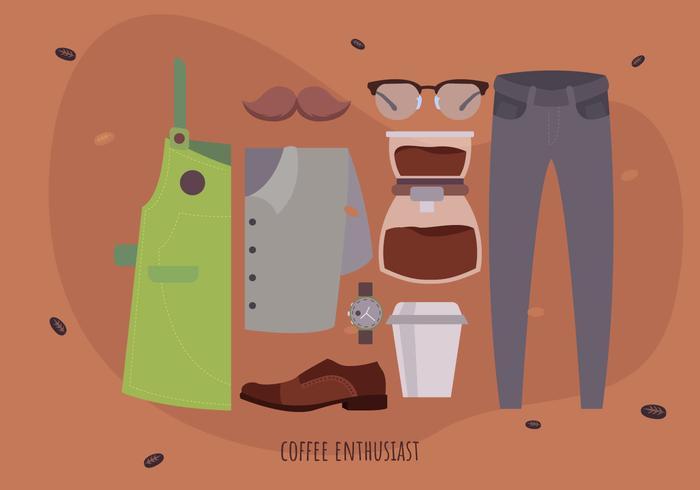 Barista Coffee Maker Starter Pack vectorillustratie