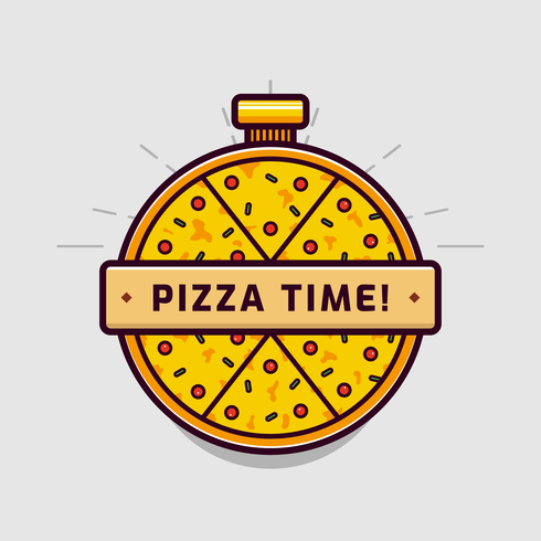 Pizza-Logo-Vektor