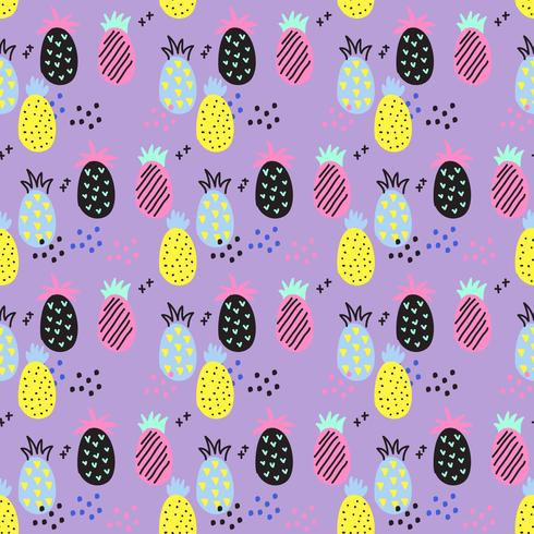 Ananas-Vektor-Muster
