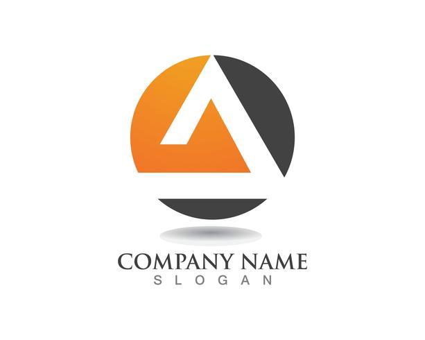 logo et symbole de la pyramide Modèle de conception abstraite de Business