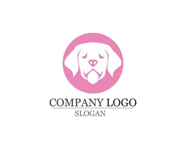 hund Kärlek symboler logotyper och symboler mall