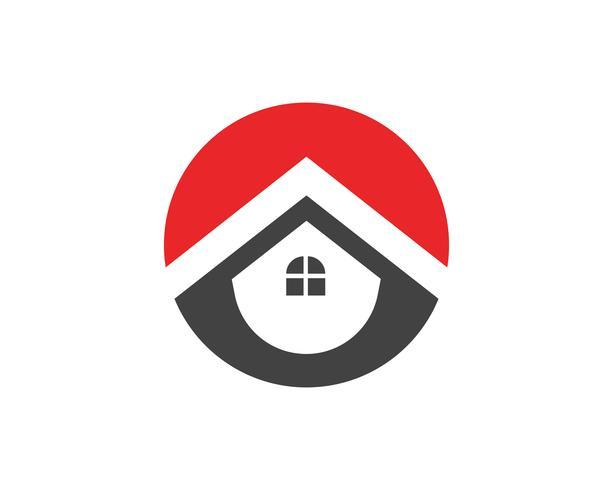 Fastigheter, fastigheter och byggnader Logo design för företags företags skyltar. Vector Logo ..