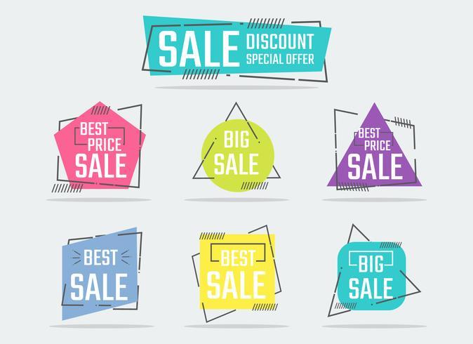 Dynamic Shapes Sale Flat vector