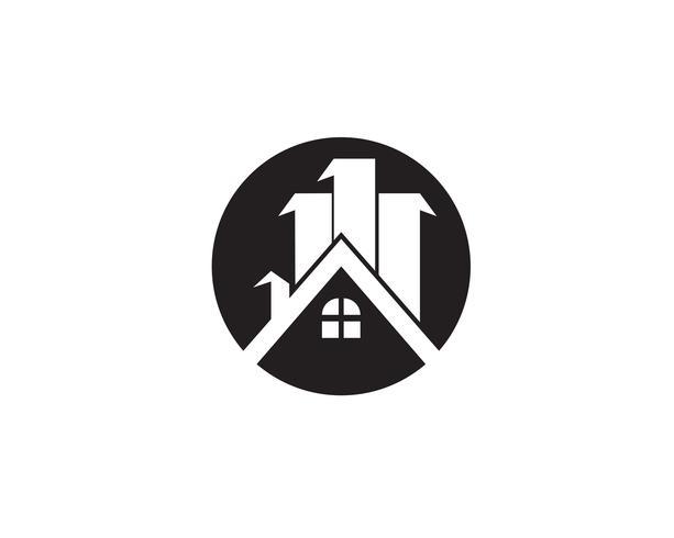 Diseño de logotipo de propiedad y construcción para el letrero corporativo de negocios.