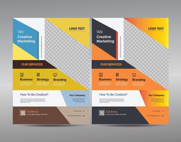Multipurpose Flyer template vector