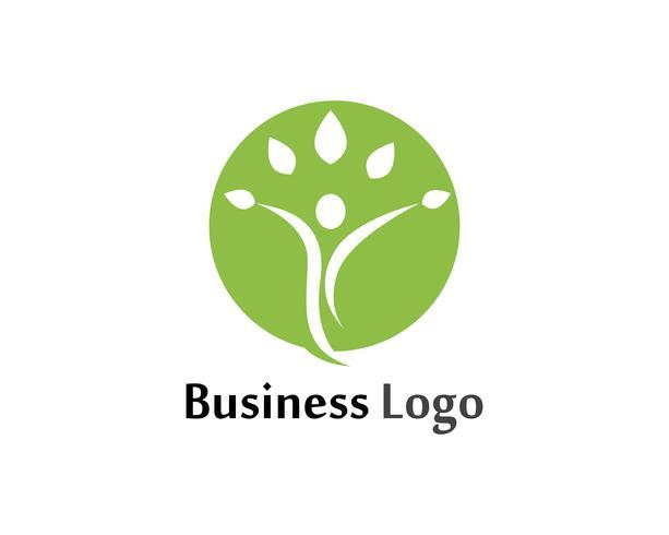 Progettazione di vettore dell'illustrazione del segno di logo di carattere umano