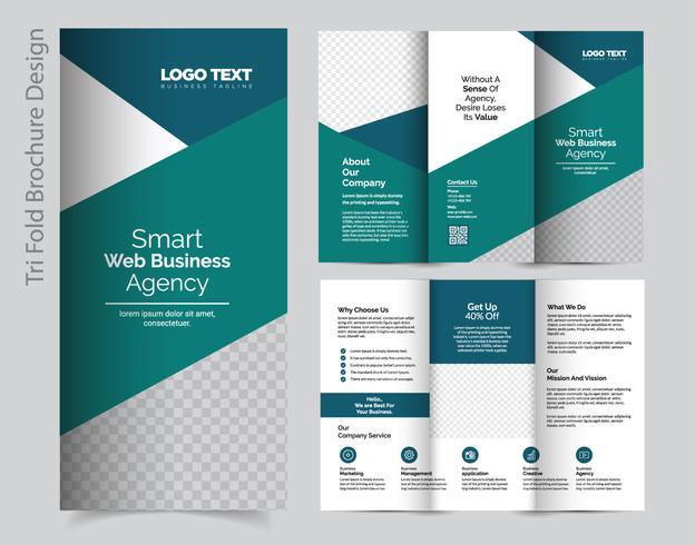Geschäfts-dreifachgefaltete Broschüre