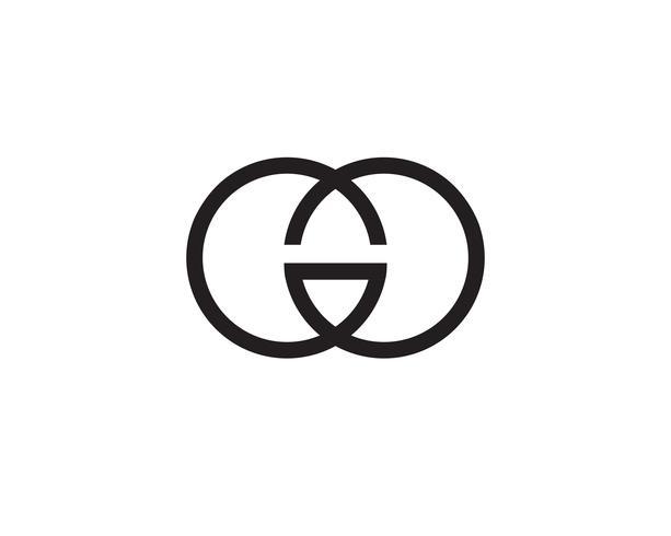 G-letters logo en symbolen sjabloon