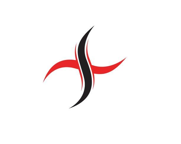 X Logo plantilla vector icono diseño