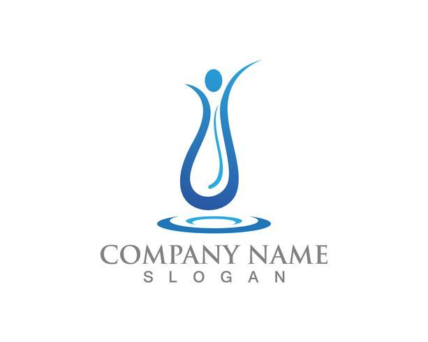 Vatten människor logotyp och symboler vektor mall app