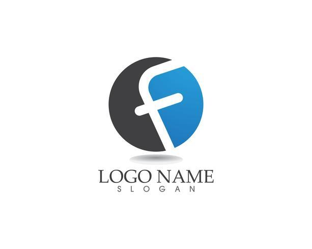 Iconos de vector de plantilla de logotipo y símbolos F