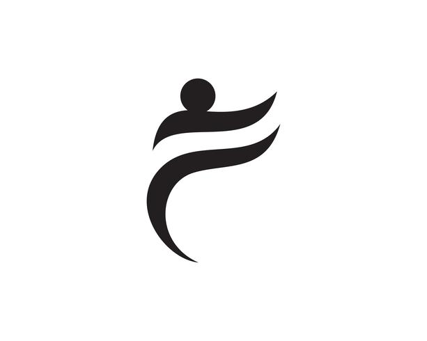 as pessoas se preocupam sucesso modelo de logotipo de vida de saúde