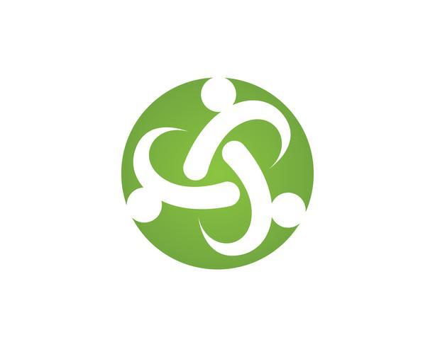 Plantilla de símbolos y símbolos para el cuidado de la gente de ONION de la comunidad