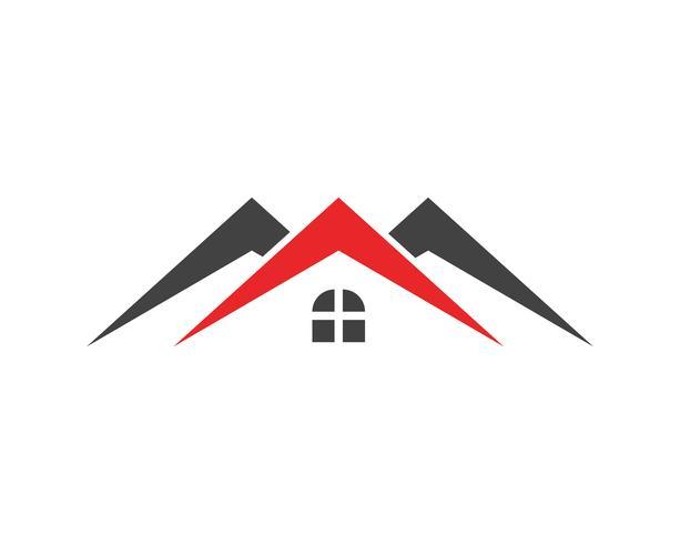 Vastgoed, onroerend goed en constructie Logo ontwerp voor zakelijke corporate teken. Vector Logo ..