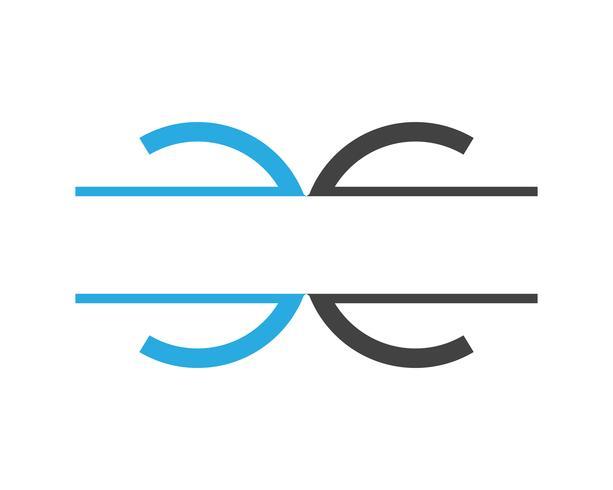 C Brev Logo mall vektor ikon design