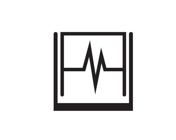 Logo de l'hôpital et icônes de modèle app icônes
