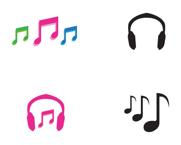 Music play  symbols logo and icons template,