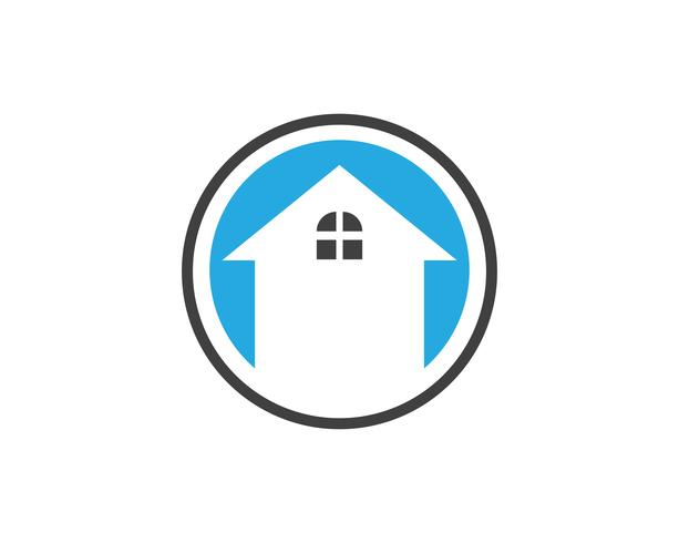 Design de logotipo de imóveis, propriedade e construção para sinal de negócios corporativos. Logo Vector ..