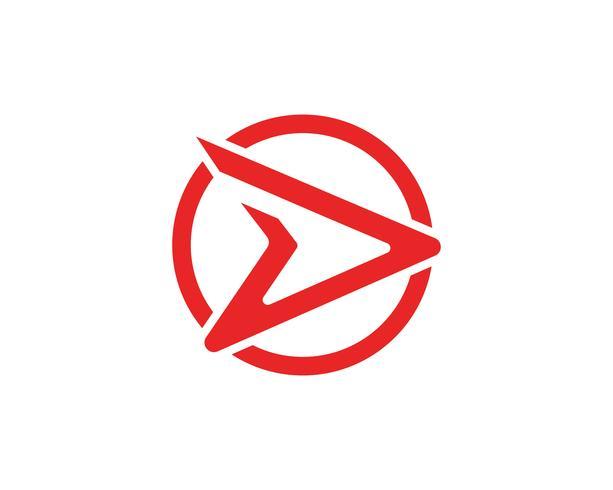Logo R mais rápido logotipo modelo vector icon ilustração design