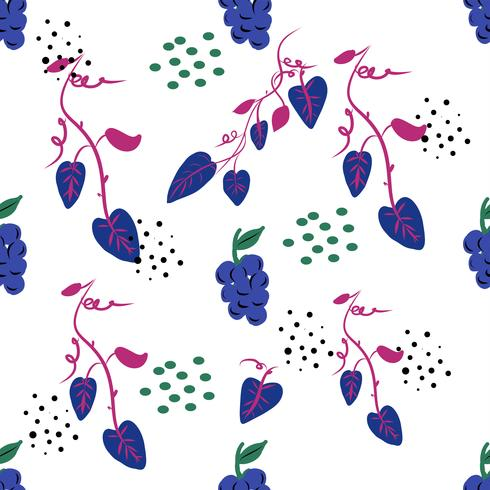 Naadloos ditsy bloemenpatroon met heldere kleurrijke bloemen en bladeren op zwarte achtergrond in naïeve volksstijl. Zomer sjabloon voor modeprints in vector.