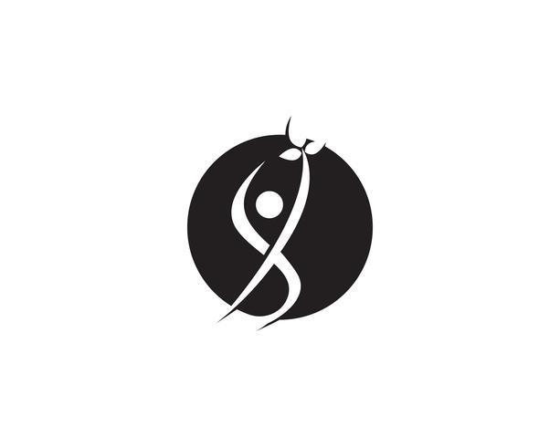Menschen Pflege Erfolg Gesundheit Leben Logo Vorlage
