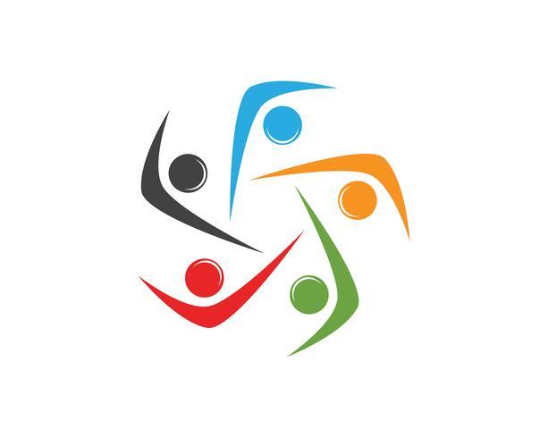 modello di simboli di persone della comunità logo cipolla