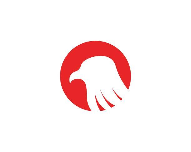 eagle hoofd logo en symbolen sjabloon pictogrammen
