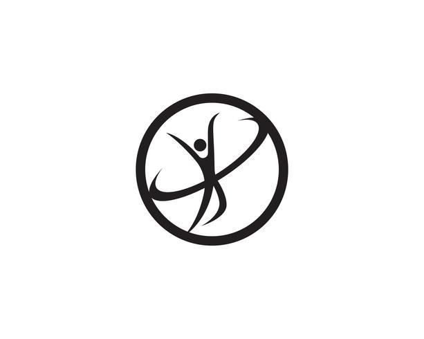 Pessoas de saúde se preocupam com logotipo e modelo de símbolos
