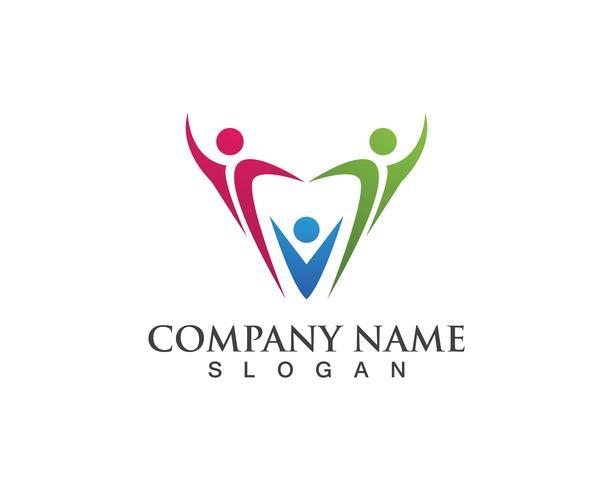 Grupo pessoas sucesso saúde vida logotipo modelo ícones