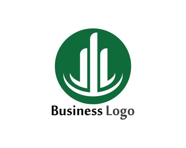 Icona della colonna Progettazione dell'illustrazione di vettore del modello di logo