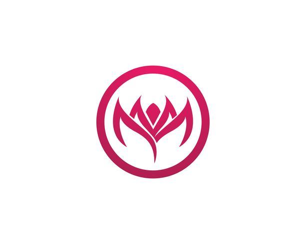 Blatt Lotus Blume Logo und Symbole Vektor