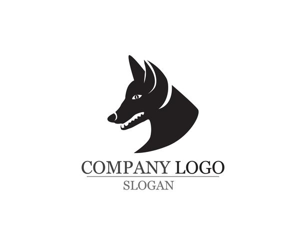 Dog vector silhouettes logo template icons app