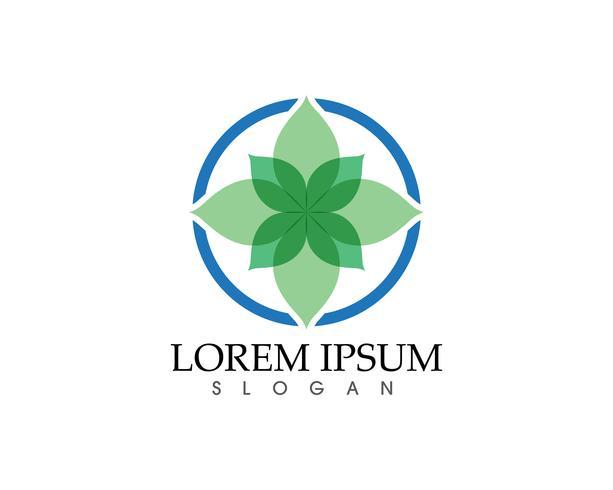 Ecologia Green Leaf Simple Icon Simbolo logo