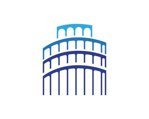 Conception de logo de propriété et de construction pour le signe d'entreprise,