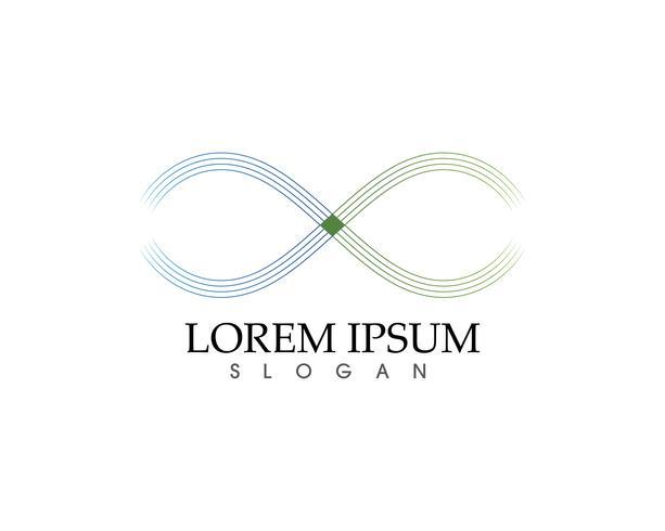 app d'icônes de modèle de logo et symbole infini