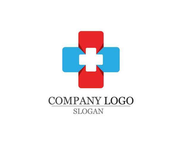 Logo de l'hôpital et le modèle icônes vecteur app