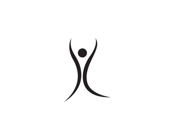 personnes soins succès modèle de vie santé logo