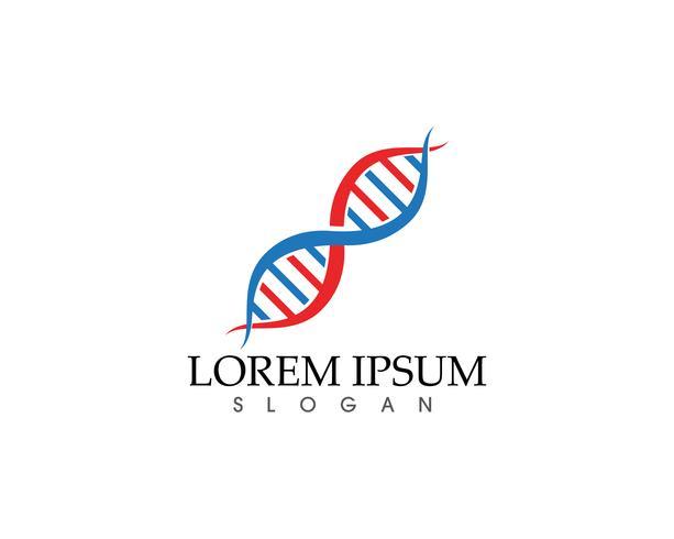 Modèle de logo et de symboles de soins de santé ADN succès