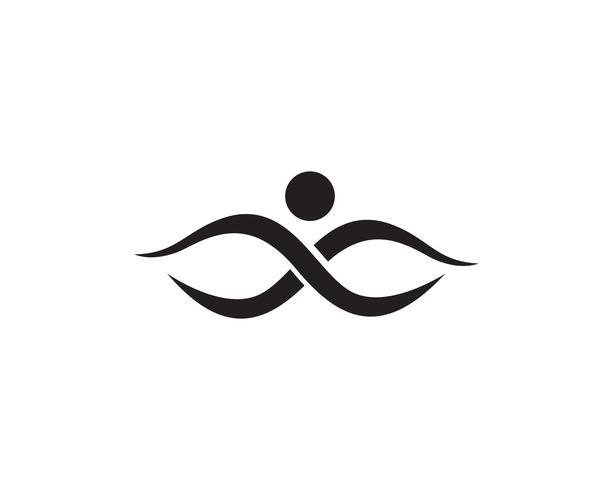 mensen zorg succes gezondheid leven logo sjabloon