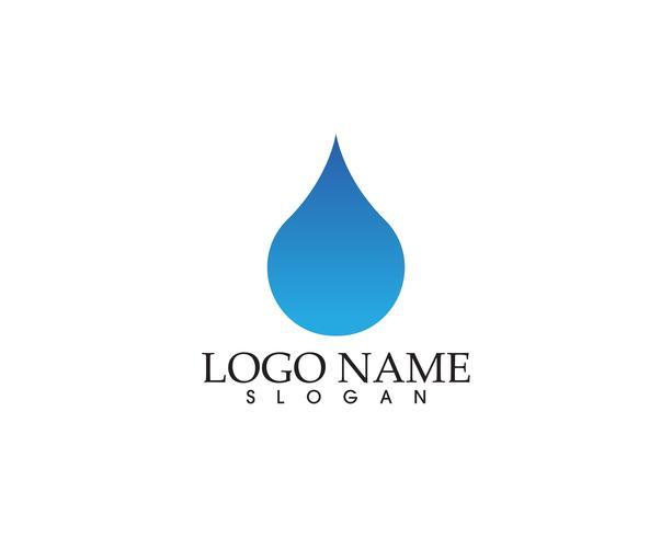 Vatten natur logotyp och symboler mall ikoner app
