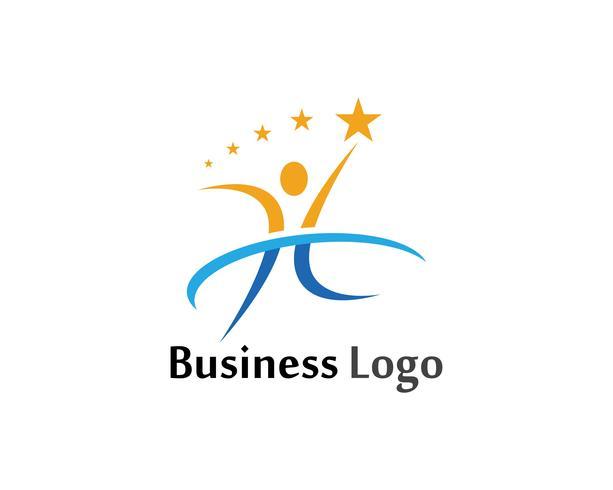 Diseño del vector del ejemplo de la muestra del logotipo del carácter humano