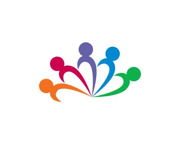 Gemeenschap ONION mensen geven logo en symbolen sjabloon