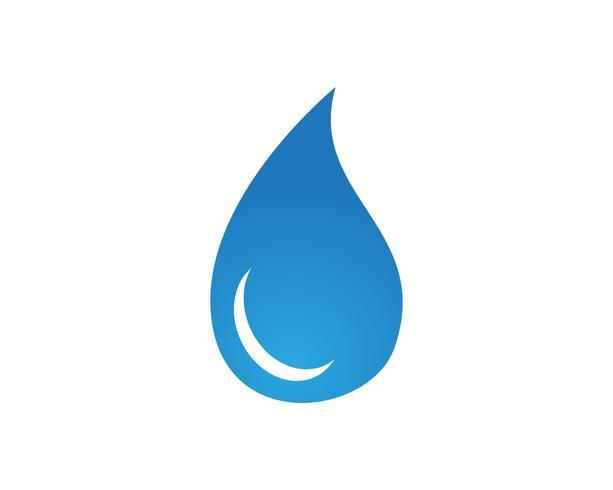 Aplicación de iconos de logotipo y símbolos de la naturaleza del agua