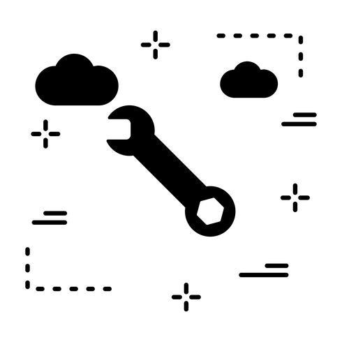 Vector moersleutelpictogram