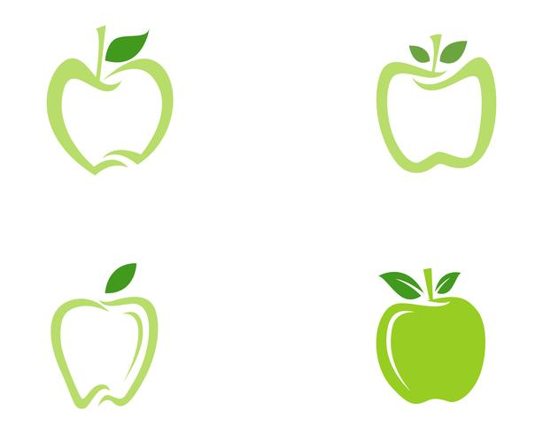 Apple-logo en symbolen vector illustratie pictogrammen app ..