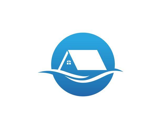 Logo maison et vecteur de symboles