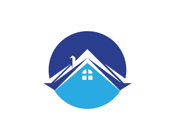 Fastigheter och byggnader Hem Logo design för företagets företags skylt