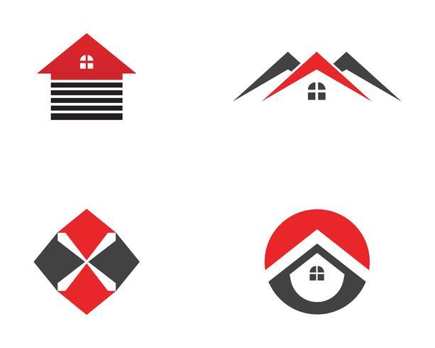 Real Estate, Property und Construction Logo-Design für Unternehmen Geschäftszeichen. Vektor-Logo ..
